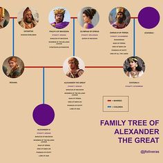 Family tree of Alexander the Great Ancient Egyptian Art, Ancient Aliens, Ancient Greece, European History, American History, Tutankhamun, Alexander The Great, Anglo Saxon, Ancient Artifacts