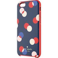 kate spade new york - 3 Dot Hybrid Hard Shell Case for Apple® iPhone® 6 - Navy - Larger Front