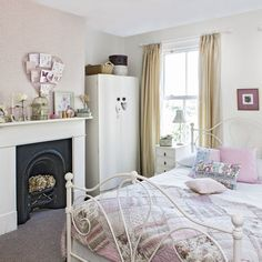 Pink teenage girl's bedroom with vintage furniture | Teenage girl's bedroom ideas | Room Idea | PHOTO GALLERY | Ideal Home | Housetohome.co.uk