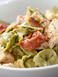 With a hectic week a head this caesar chicken tortellini will help you eat well despite all the chaos.