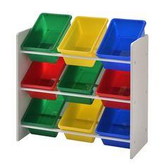 Zoomie Kids Hindman Kids Storage Toy Organizer & Reviews | Wayfair Toy Storage Bench, Kids Storage, Storage Bins, Toy Bin Organizer, Toy Organization, Lego Toys, Children's Toys, Toy Bins, Teaching Colors