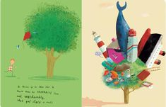 """""""The 11 Best Illustrated Children's and Picture Books of 2011"""" This one's my particular fave and it stuck in my head just like how things got stuck in the tree. :)"""