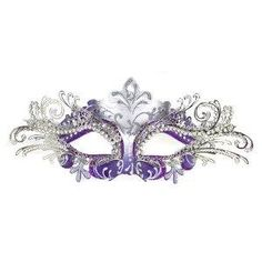 I found 'Venetian Purple Mask w/ Silver Metal Laser-cut and Crystals on Eyes' on Wish, check it out!