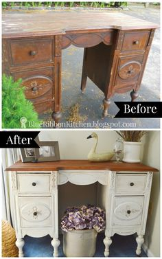 ten amazing vintage desk makeovers hometalk funky junk present
