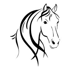image result for horse head outline