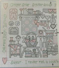 Cookies Sampler Pattern 1/4 #crossstitch #freepattern Contry Stitch