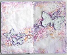 Fly away - art journaling *13arts*