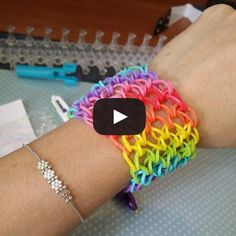 Comment réaliser bracelet élastique manchette rainbow