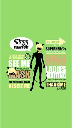 Cat Noir from Miraculous Ladybug typography quotes tshirt design and print by SlothgirlArt for sale at www.redbubble.com/people/slothgirlart and www.society6.com/slothgirlart