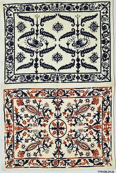 century, Greek Islands, Crete, Silk on linen Embroidery Patterns Free, Embroidery Fabric, Textile Patterns, Textile Art, Cross Stitch Embroidery, Print Patterns, Greek Design, Fabric Embellishment, Modern Vintage Fashion