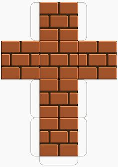 Super Mario Downloadable Brick Block Template