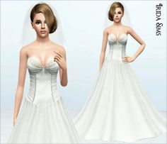 Wedding Dress 09 At Irida Sims 3 Finds