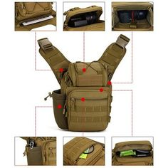 Multifunction Shoulder Outdoor Photography SLR Camera Bag Tactical Saddle Bag Waterproof Camouflage Army Bag For Hiking Dslr Camera Bag, Tactical Bag, Outdoor Photography, Chic Outfits, Latest Fashion Trends, Saddle Bags, Camouflage, Crossbody Bag, Hiking