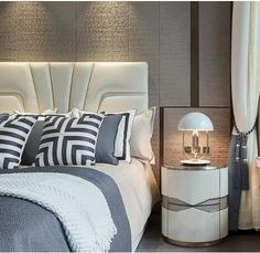 Tv Panel, Wooden Bedside Table, Bedroom Bed, Bedrooms, Wooden Flooring, Bed Design, Bed Spreads, Bed Pillows, Interior