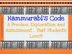 Hammurabi's Code: Launch, Explore, and Assessment the Kids World History Classroom, History Education, History Teachers, Teaching History, Teaching Geography, 6th Grade Social Studies, Social Studies Activities, Teaching Social Studies, Science Activities