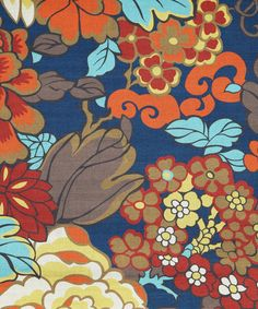 Navy Garden Print Linen Union, Liberty Furnishing Fabrics. Shop more home fabrics from the Liberty Furnishing Fabrics collection online at Liberty.co.uk
