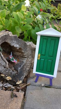 Tooth Fairy Door Green Celebration Enchanted by NinefelinusTrading