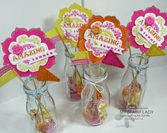 End of Summer Paper Crafted Party Decorations-this would work great for grams 80th BD party table decor.