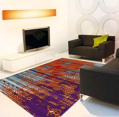 Tapis ethnique orange moderne Folk Arte Espina Tapis Design, Contemporary, Orange, Rugs, Home Decor, Style, White Rug, Modern Bohemian, Cooking
