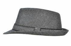 Amazon.com: Men and Women Summer Wool Felt Brim Round Fedora Trilby Gangster Hat: Clothing