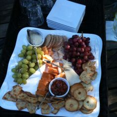 Cheese platter on the deck