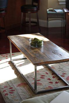 Purlin - Coffee Table (minimal, reclaimed wood, steel)   Furniture   theuncommongreen