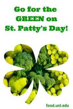 Tips and recipe ideas to enjoy green fruits & vegetables on St. Patrick's Day