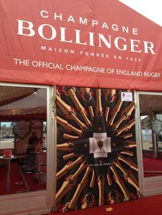 The ‪#‎BollingerTent‬ at Twickenham is ready and waiting for you for the England Rugby vs All Blacks ‪#‎QBEinternationals‬