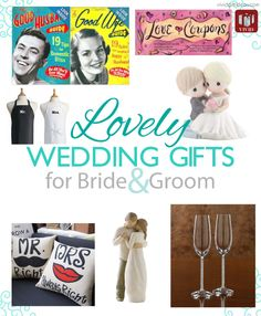 REPIN! Check out these lovely wedding gifts for bride and groom. Gifts ranging from $5 - $329