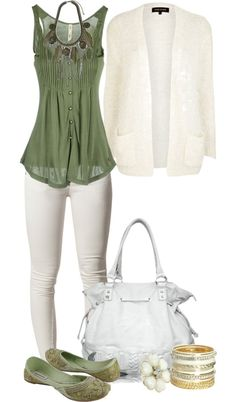 """Untitled #1971"" by lisa-holt on Polyvore  wouldn't wear the white pants though...s"