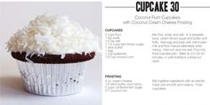 Coconut Rum Cupcakes with Coconut Cream Cheese Frosting