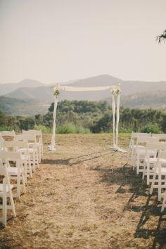 Laid Back Jewish Wedding on a Ranch (61): Simple Chuppah