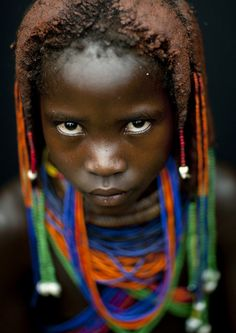 Mumuhuila girl - Angola by Eric Lafforgue on Flickr.