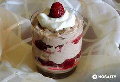 Nutellás mascarponekrém málnával Mousse, Panna Cotta, Nutella, Trifle, Frosting, Pudding, Sweets, Snacks, Food