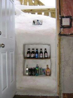 When nature gives you 5 foot snow drifts make a fridge