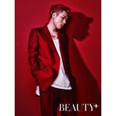 Zico shows off his tattoos in solo pictorial for 'Beauty+' |... ❤ liked on Polyvore featuring block b