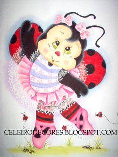 Pintura em Tecido Passo a Passo: pintura em tecido - Joaninha Bailarina