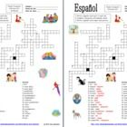 Spanish Family Crossword and Picture IDs - Students use each word at least twice and some 3 times so they get ample practice with the family vocabu...