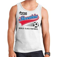 Euro 2016 Football Slovakia Slovensko Baseball White Men's Vest -- You can find more details by visiting the image link.