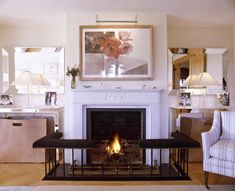 Love the mirrors and console tables: White Traditional Living Room - Living Room Design Ideas - Zimbio