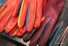 Colourful gloves by Liisa Sauso Gloves, Leather, Color, Products, Colour, Gadget, Colors