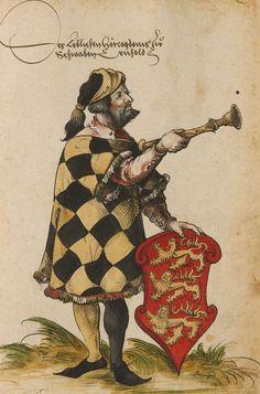 «Der ... Schwaben Herold». Faszikel VIII: Wappenherolde der süddeutschen Länder (210r) -- «Sammelband mehrerer Wappenbücher», Augsburg? (Süddeutschland), um 1530 [BSB Cod.icon 391].