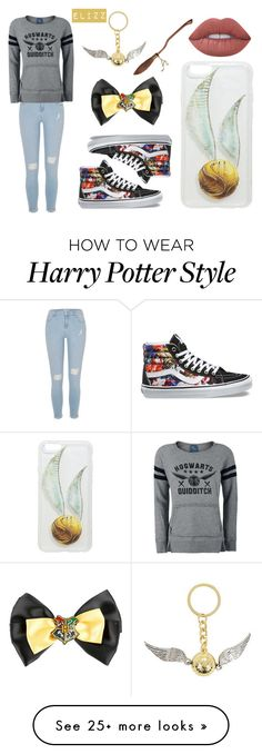 """""""Made The Quidditch Team"""" by elizz-denne on Polyvore featuring River Island, Vans, Warner Bros. and Nimbus"""