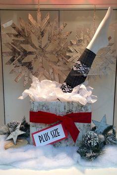 Fun Fashions Mayfair Christmas 2016 funfashions.ca PropaganZa Visual Display & Design Visual Display, Display Design, Christmas Window Display, Christmas 2016, 4th Of July Wreath, Christmas Stockings, Cool Style, Wreaths, Holiday Decor