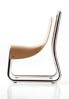 Cerruti Baleri Littlebig Modern Chair With Oak Veneer Seat