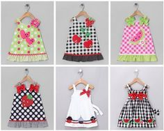 ideas de vestidos con apliques para ninas                                                                                                                                                                                 Más