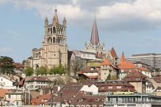 Panorama Lausanne catedral - Suiza
