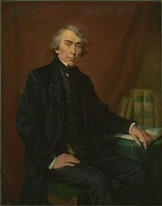 UNITED STATES SUPREME COURT CHIEF-JUSTICE ROGER TANEY PORTRAIT ANTIQUE ENGRAVING