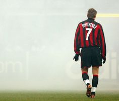 Andriy Shevchenko of AC Milan in the smoke off the flares at the San Siro in Football Is Life, Best Football Team, Sport Football, Football Gif, Fifa, Premier League, Milan Football, Soccer Stars, Football Pictures