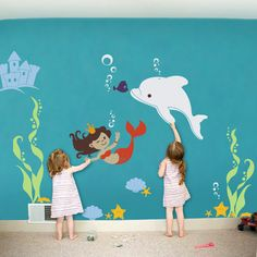 Mermaid Princess Under the Sea Wall Decal- Mermaid Princess Under the Sea Wall Decal (ITEM NO. Mermaid Princess Under the Sea Wall Decal